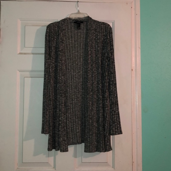 Forever 21 Sweaters - grey white and black cardigan